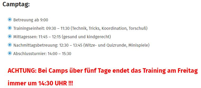 Tus Jugendfussball Feriencamp Holzkirchen 5 Tage Ab Ab